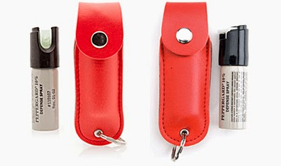 Women need to use the self defense Mace Pepper Spray - Red Leather Plus or the Mace PepperGard Leather Plus Model for personal protection.