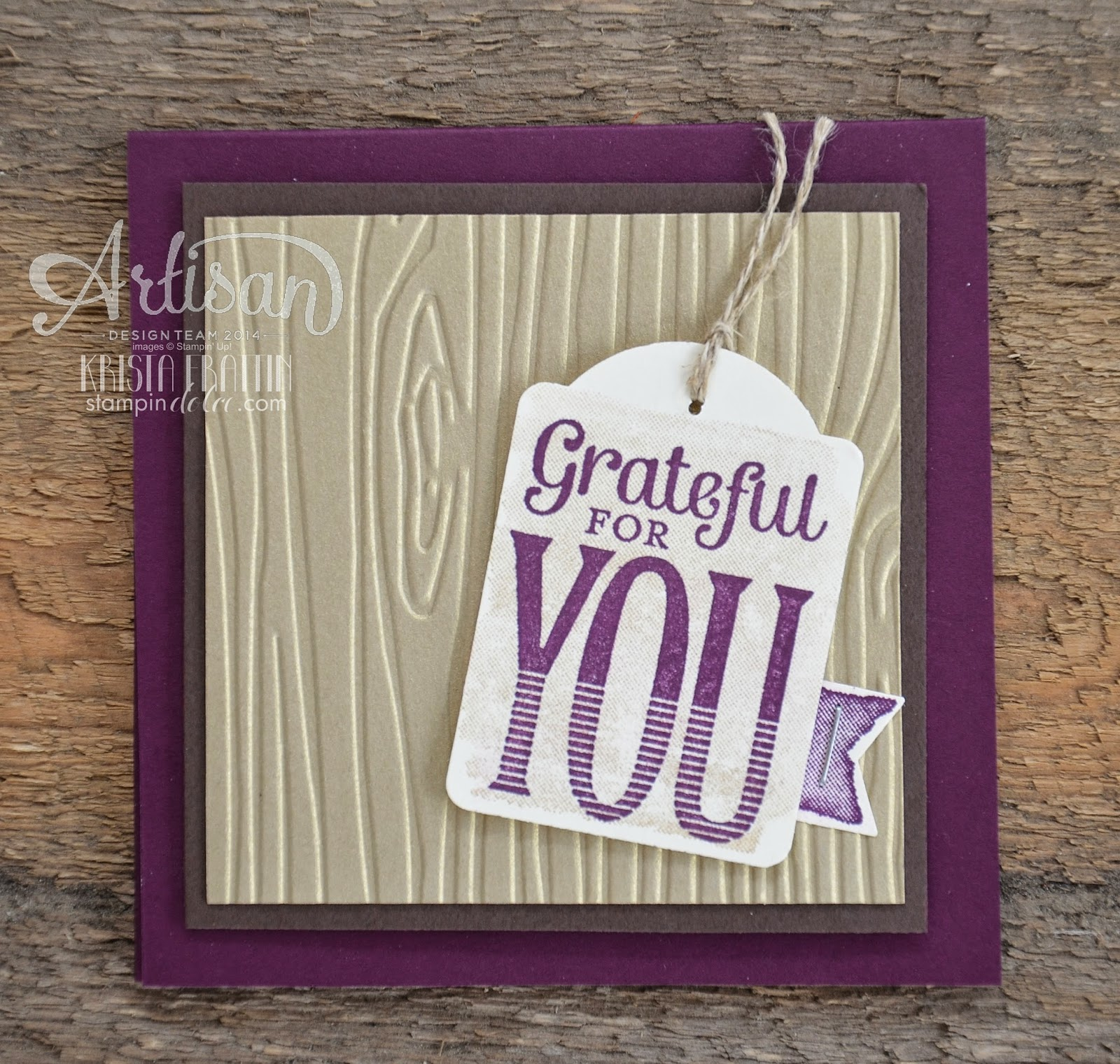 Stem School Harlow: Stampin' Dolce: Grateful Scrapbook Layout