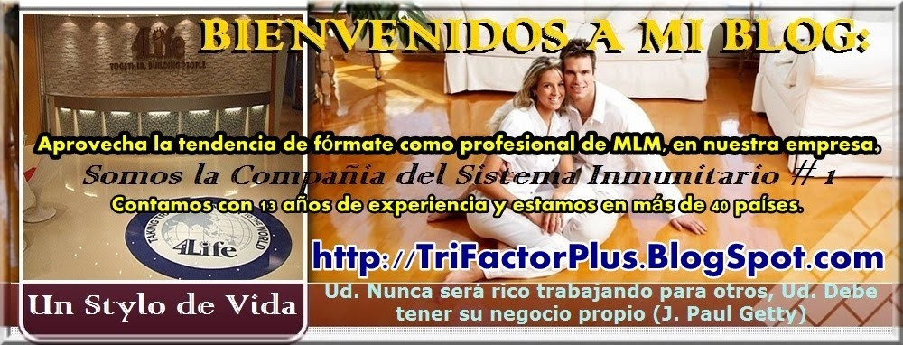 4LIFE COLOMBIA - EL NEGOCIO PERFECTO - 4LIFE TRANSFER FACTOR TRI-FACTOR FORMULA