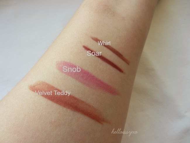 MAC Kylie Jenner Lipstick Swatches