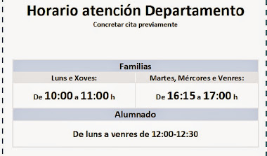HORARIO ATENCION DEPARTAMENTO
