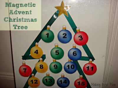 Magnetic advent christmas tree