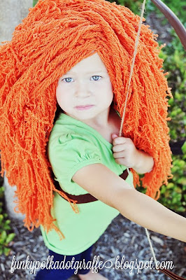 free crochet pattern costume princess wig
