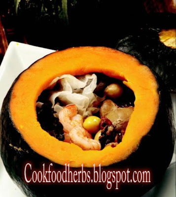 Gingko nut sweet pumpkin stew