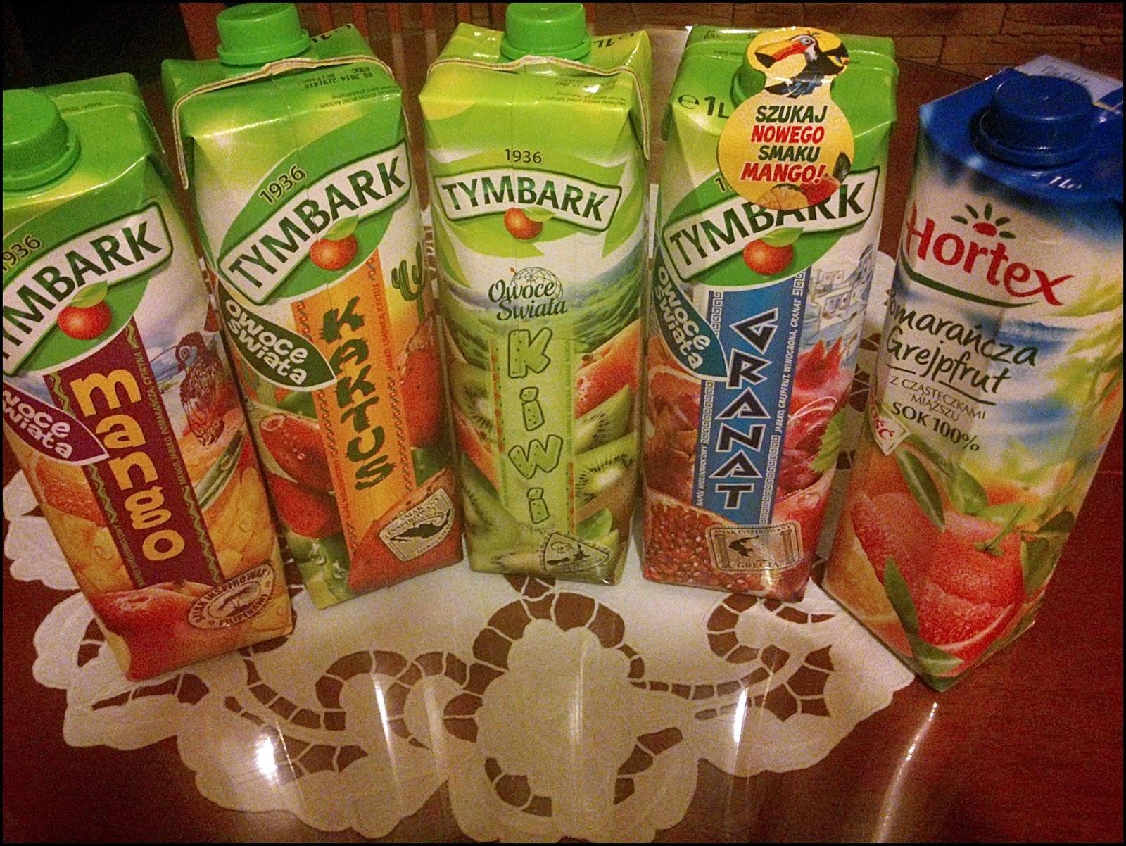 skład soków