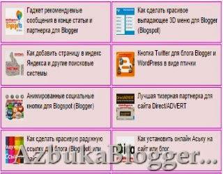 Карта блога с графикой