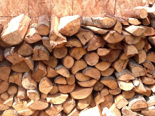 A well-organized wood pile