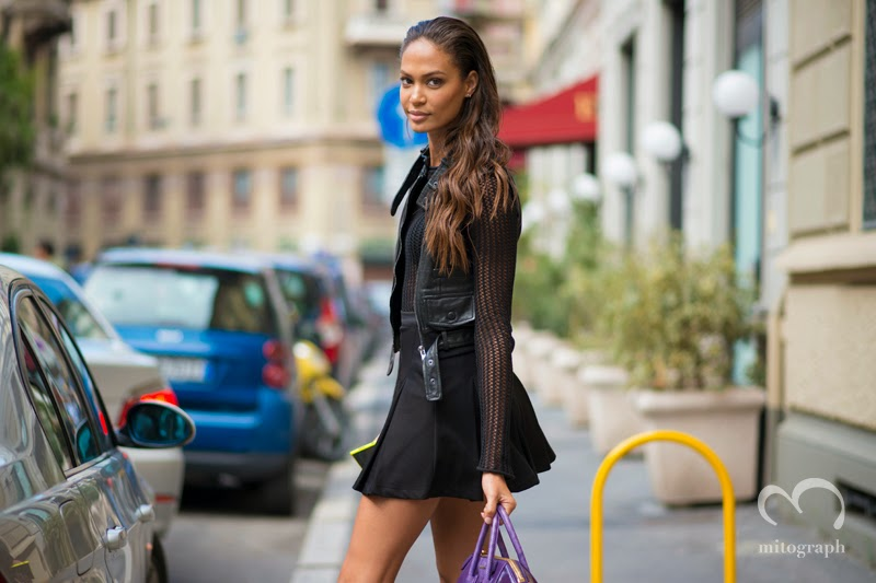 mitograph Joan Smalls After Gucci Milan Fashion Week 2014 Spring Summer MFW Street Style Shimpei Mito