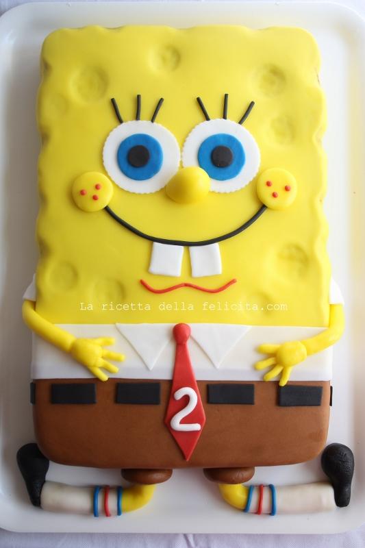 spongebob cake in pasta di zucchero e buone vacanze la. Black Bedroom Furniture Sets. Home Design Ideas