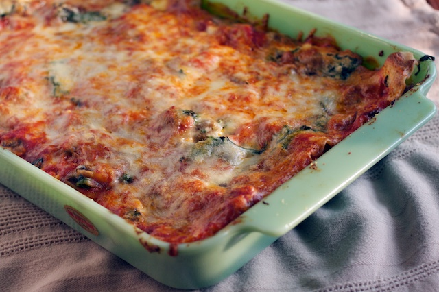 Vegetable Lasagna with Spinach and Mushrooms | Our Family Eats