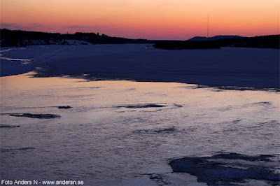 Torne älv, solnedgång