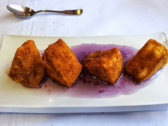 Violet Marmalade and Fried Cheese