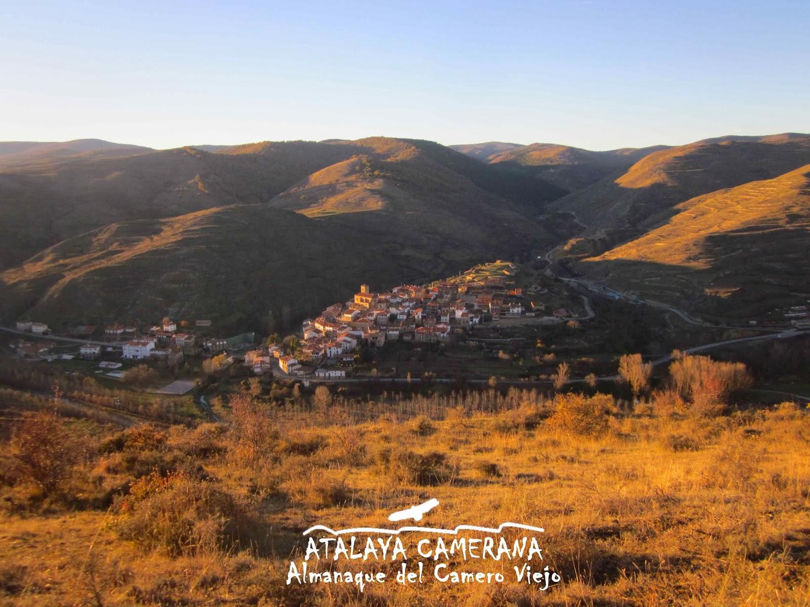 Vista de San Román de Cameros y su entorno desde el Cerro de Santa Bárbara