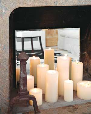 Decorare con le candele a natale e tutto l 39 anno for Camino finto fai da te natale