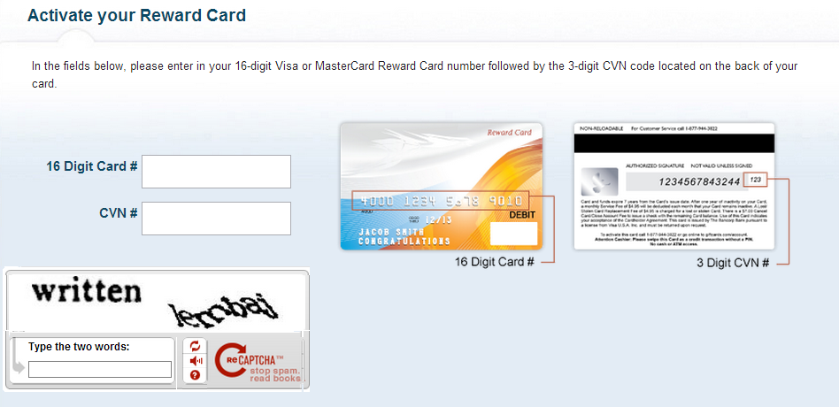 how to activate go mastercard online