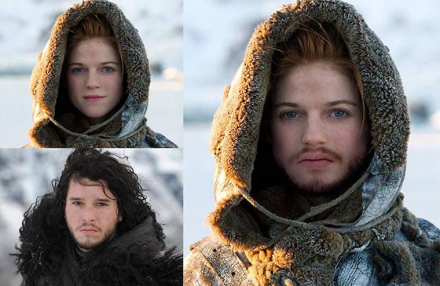 Mezcla Ygritte Jon Nieve - Juego de Tronos en los siete reinos