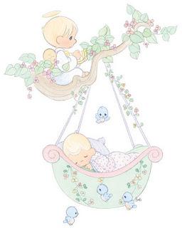 Angel cuidando del sueño de bebe