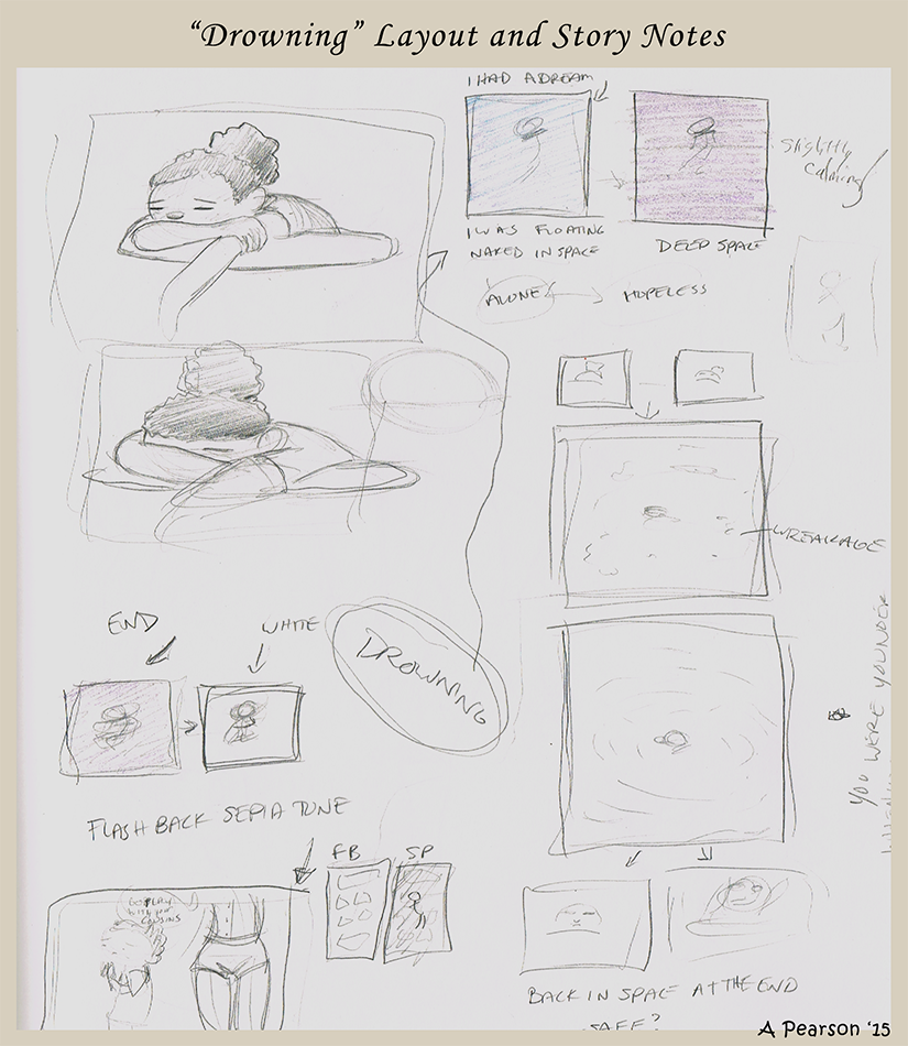 Andrea pearson art comics for Story layout