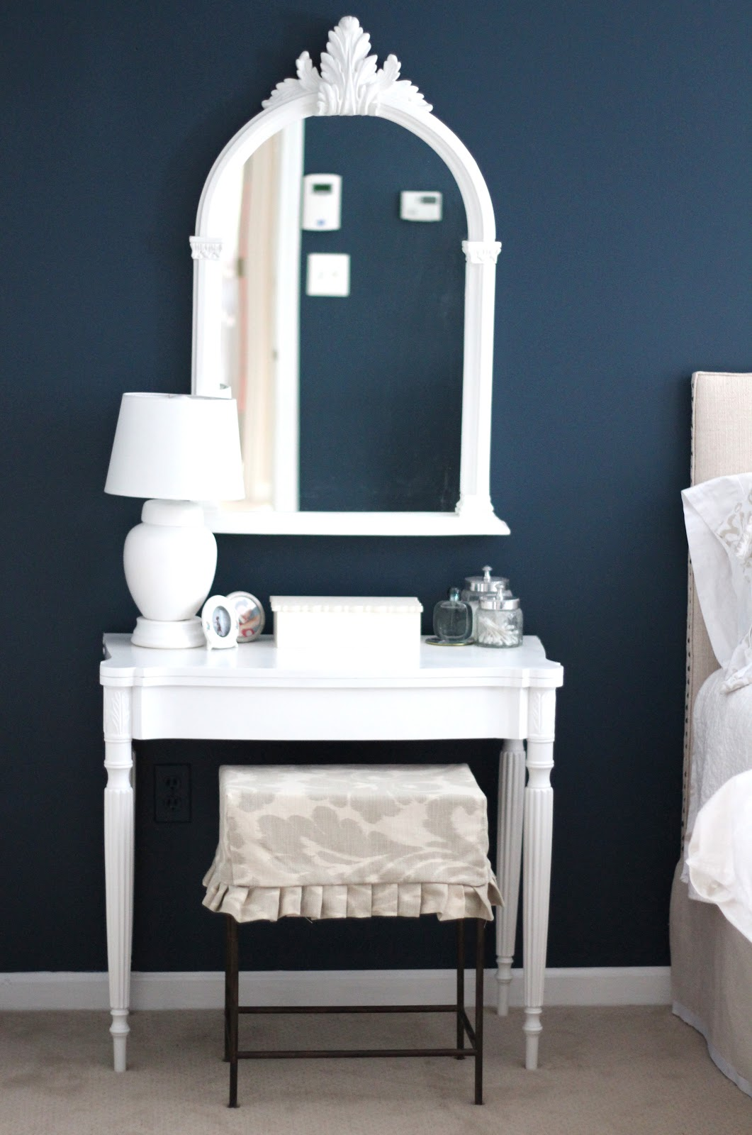 Best dark grey paint colors - Free Blue Bedside Table Customized Kidus Bedside Table With Dark Grey Blue Paint