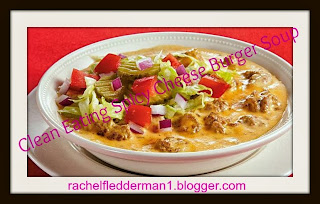 Clean Eating Spicy Cheesy Burger Soup