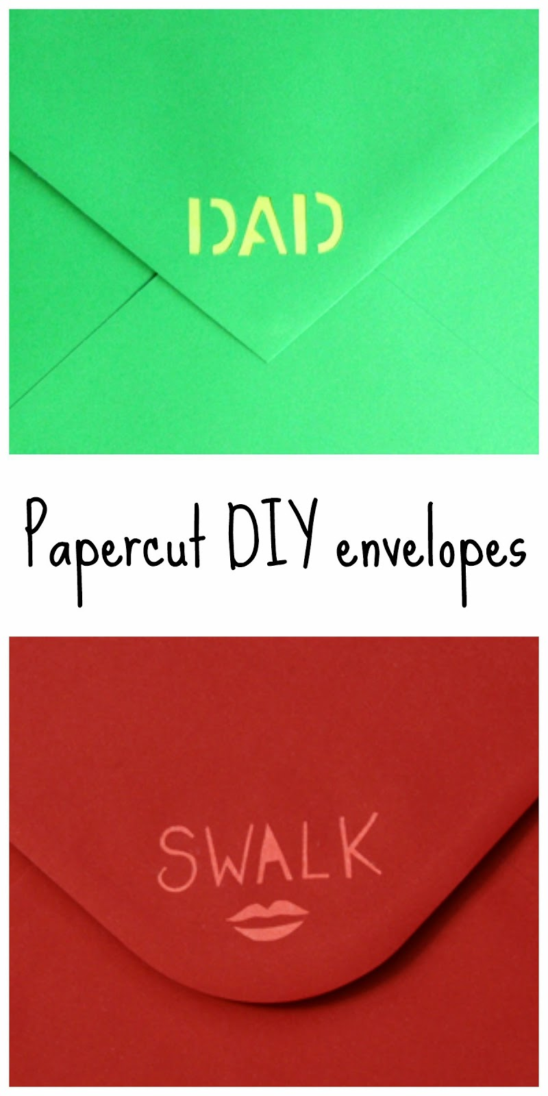 Simple papercuts to make envelopes more special