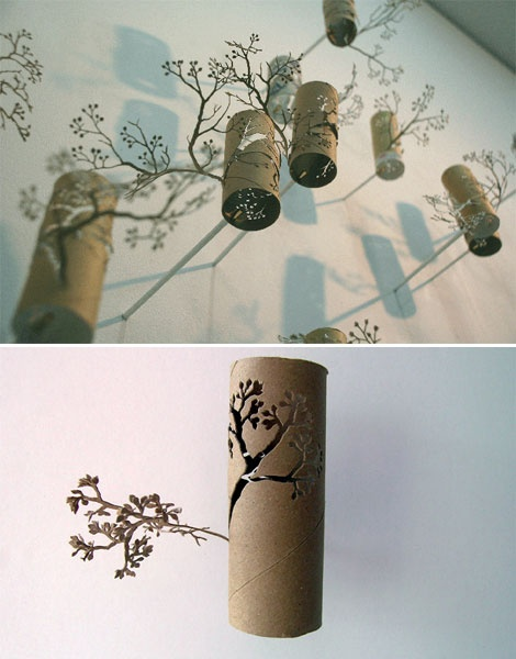 Toilet paper roll crafting art ASIAN LEVEL