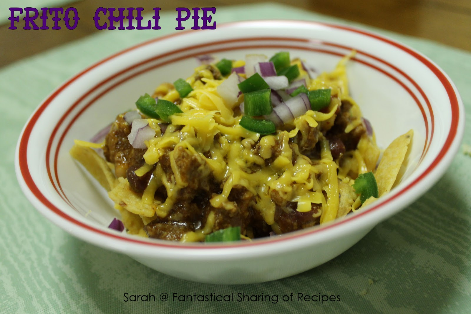 Frito Chili Pie - this recipe has an amazing combination of flavors ...