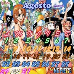 Calendario One Piece