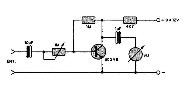 electronica proyectos  circuito v u00fametro anal u00f3gico