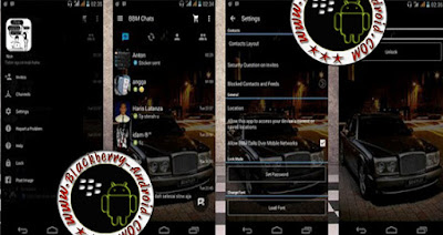 BBM Mod Full Transparan Tema Material Design v2.9.0.51 + BackUp Free Sticker