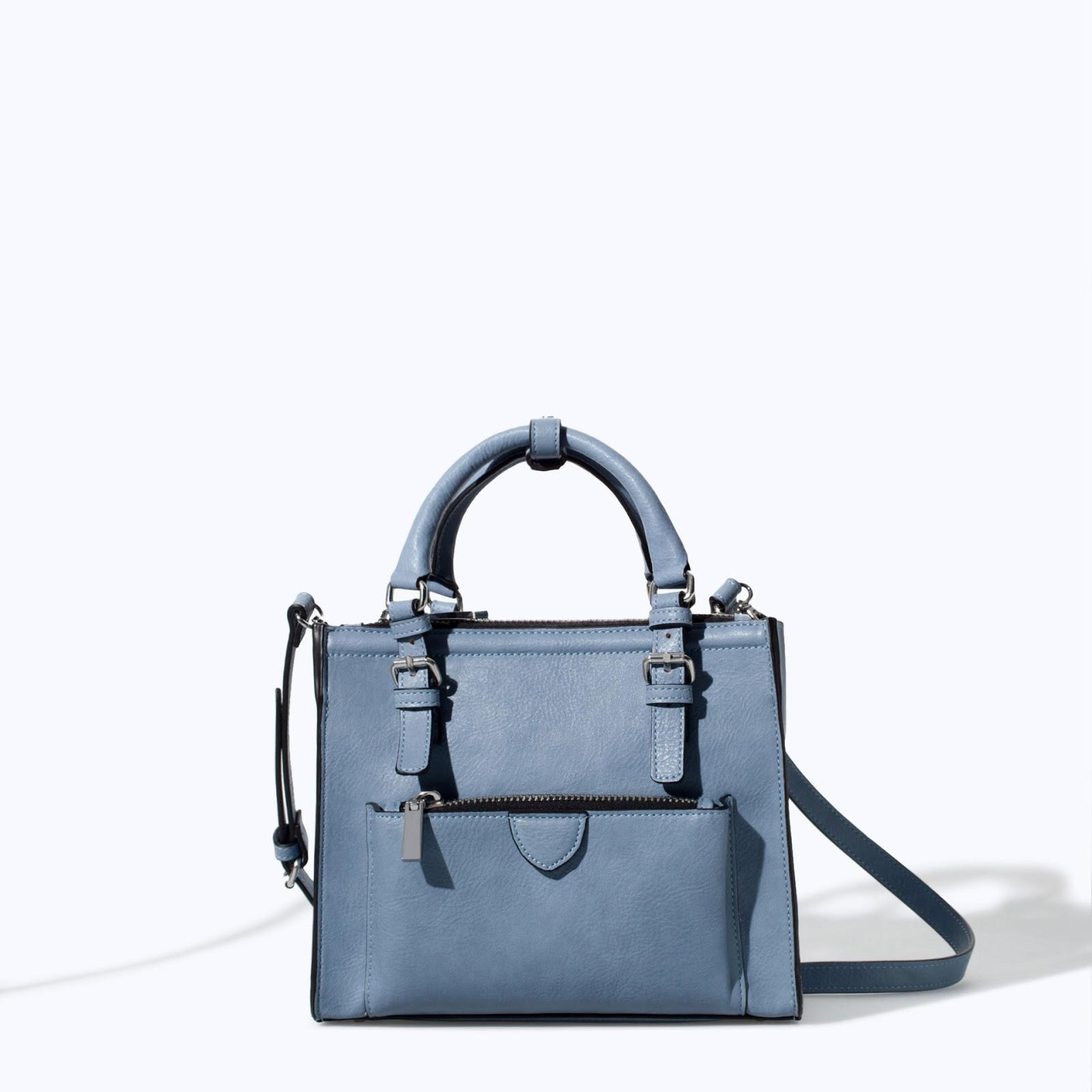 Bolso azul Zara