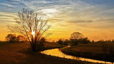 Atardecer en el campo - Paisajes rurales - El río