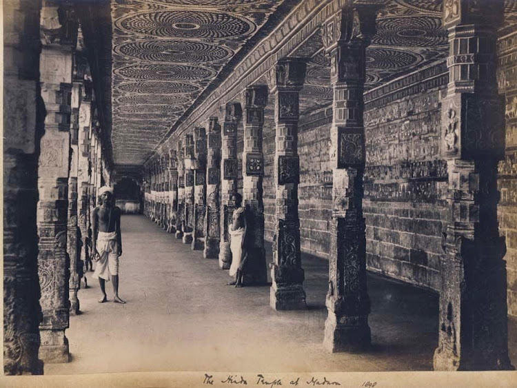The Temple Corridor at Madurai, Karnataka - 1898