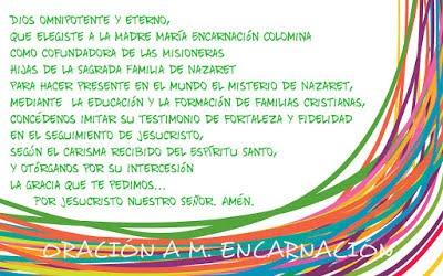 Oración a M.Encarnación