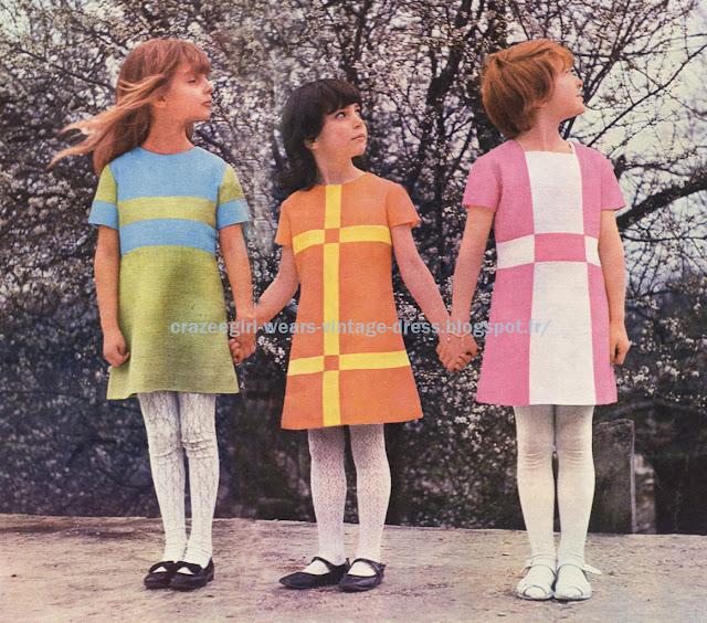 colorblock dress 1966 color block 60s 1960
