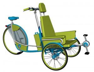 Desain Sepeda Becak Ontel