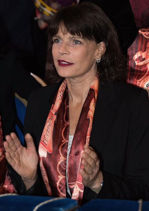 Princess Stephanie of Monaco and daughter Pauline Ducruet attend the 40th International Circus Festival