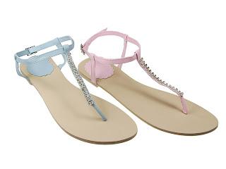 beautiful female sandals