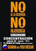 Concentración  Solidaridad con el Pueblo Venezolano