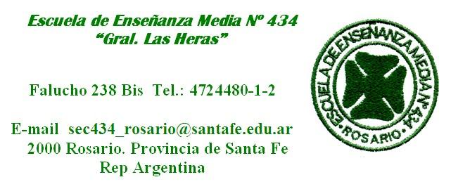"""Escuela Nº 434 """"Gral.Las Heras Rosario"""""""