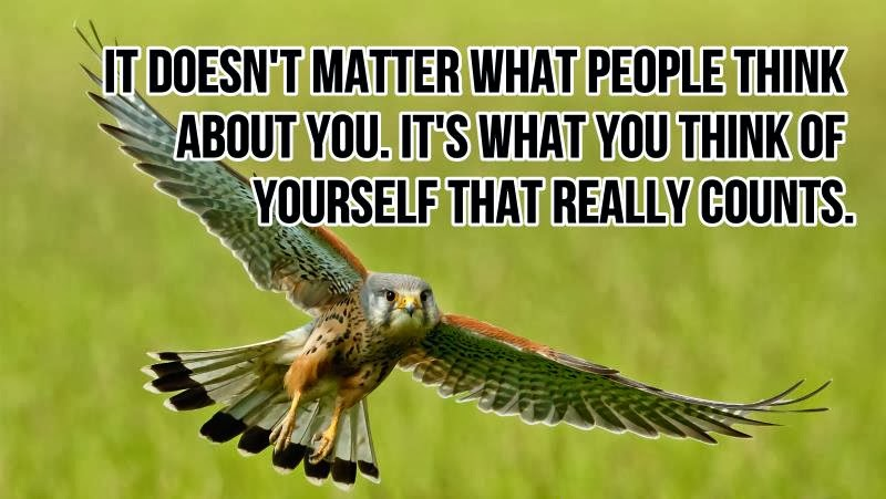 It doesnt matter what people think about you