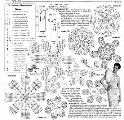 Вязание крючком схемы и модели журнала мод 164