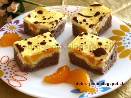 Kakaový koláč s tvarohom - recepty