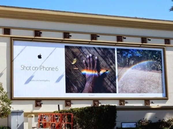 Shot on iPhone 6 rainbow billboard