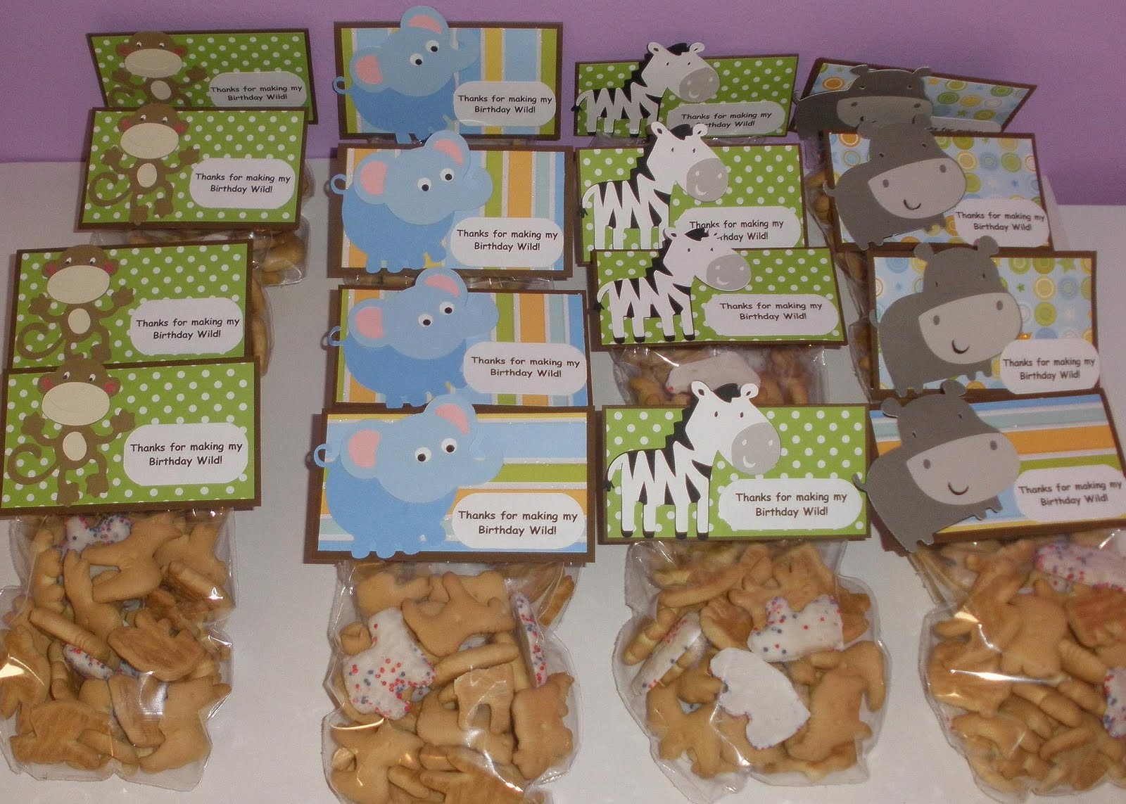 animal cracker thank you bags baby shower ideas pinterest