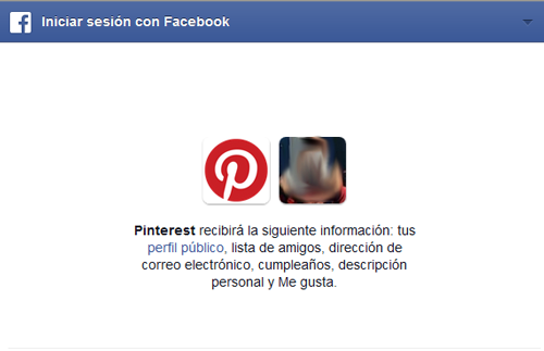 crear cuenta pinterest con facebook