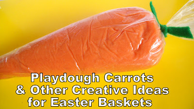 Playdough Carrots Easter Baskets