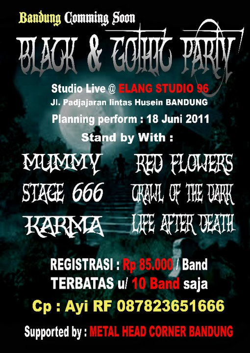 COMMING SOON BLACK & GOTHIC PARTY