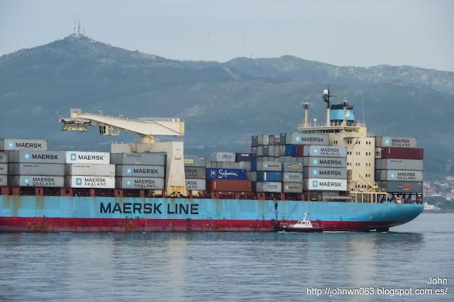 thomas maersk, puerto de vigo, maerks line, container ship