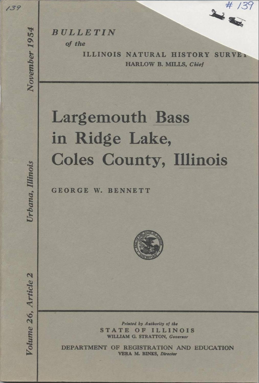 bulletin illinois natural history survey 26 2 219 276 illus urbana 1954
